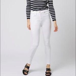 TOPSHOP Jamie High Waist White Skinny Jeans 34